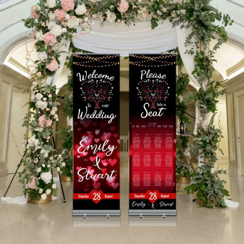 Wedding Roller Banner N14 - Welcome to our Wedding / Table Seating Plan